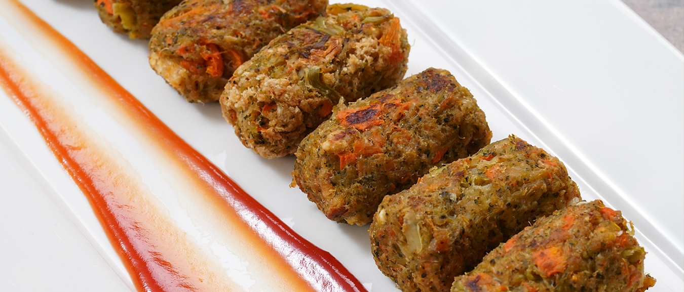 Veg Nuggets Recipe – Baked Vegetable Nuggets – Healthy Snack Recipe – Bhumika