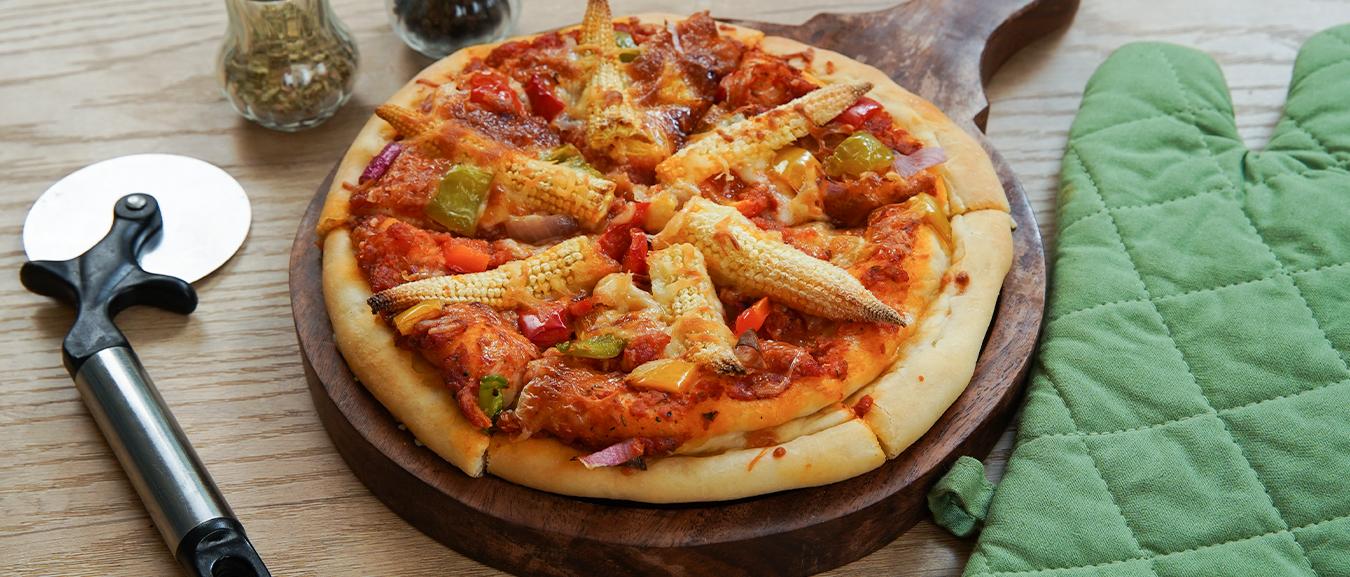 Domino's Cheese Burst Pizza Recipe – How To Make Cheese Burst Pizza – Veg Cheese Pizza – Bhumika