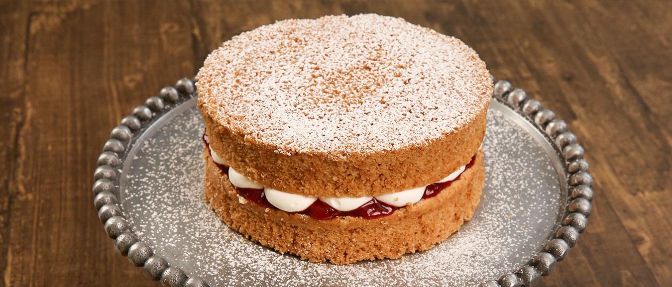 Classic Victoria Sponge Cake Recipe – Homemade Sponge Cake – Tea Time Cake Recipe – Bhumika