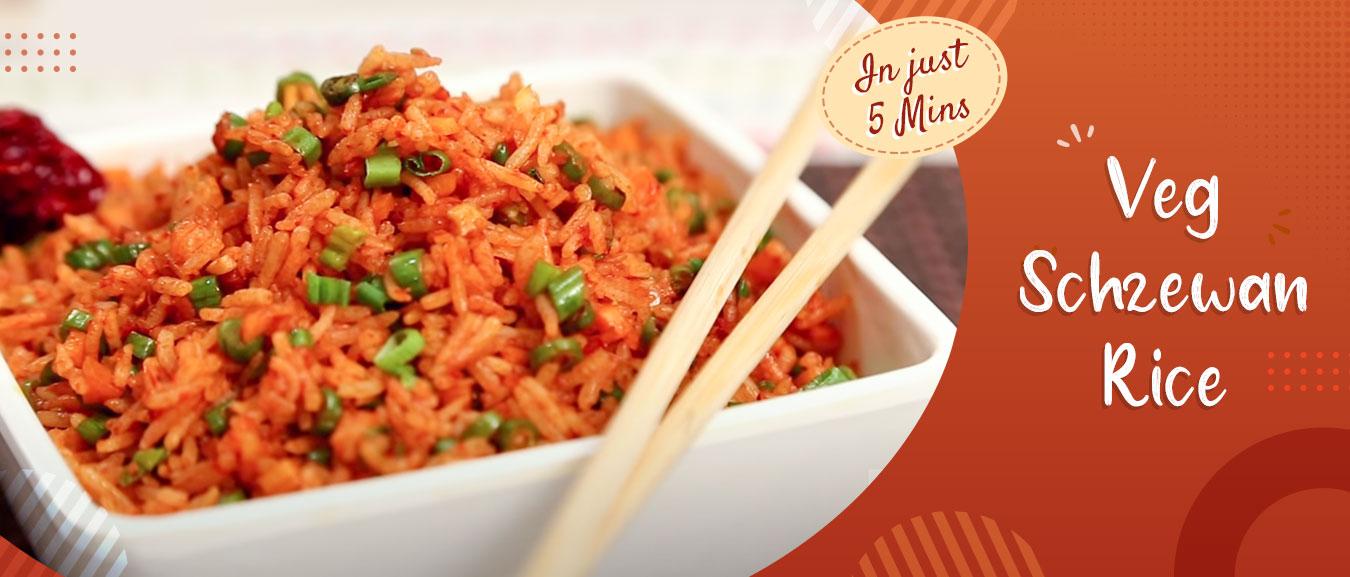 Quick Five Minutes Veg Schezewan Rice Recipe – Chinese Main Course Recipe By Ruchi Bharani